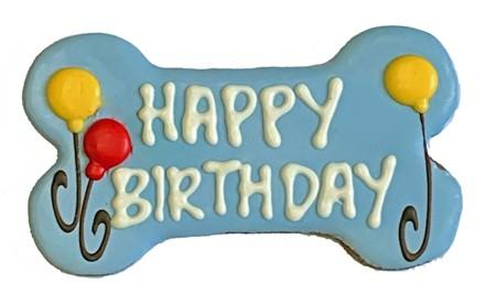 "6"" Happy Birthday Blue Bone Bulk - 6 Ct Case BKY:6in:00896"