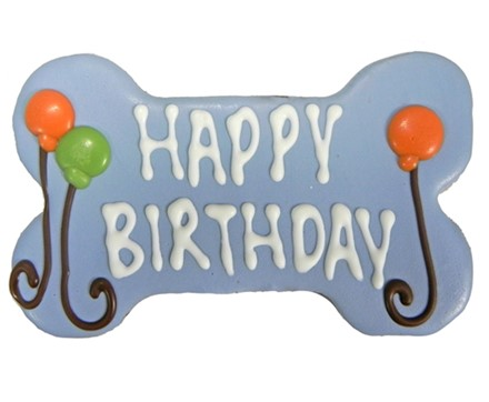 "6"" Happy Birthday Bone Blue (Bulk)  6 Count Case 896"