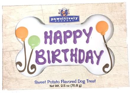 "6"" White Happy Birthday Bone Gift Box GFB:6inGFB:00808"