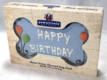 "6"" Blue Happy Birthday Gift Box - 6 Count Case 880"