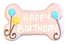 "6"" Happy Birthday Pink Bone Bulk - 6 Ct Case BKY:6in:00897"