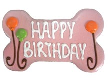 "6"" Happy Birthday Bone Pink (Bulk)  6 Count Case 897"