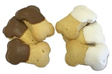 SB MINI -  Carob & Yogurt Dipped Bitty Bones - 40 Ct Case BKY:SBM:00371