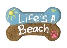 """6 inch """"Life's a Beach"""" Bone 427"""