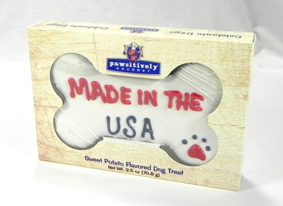 """6"""" Made in the USA Bone  Gift Box - 6 Count Case 813"""
