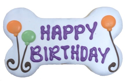 "6"" Happy Birthday WHITE Bone Bulk - 6 Ct Case BKY:6in:00804"