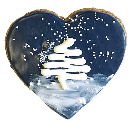 Winter Starry Night Heart - 16 Ct Case BKY:WIN:00459