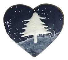 Winter Starry Night Heart 20 Count Case 459