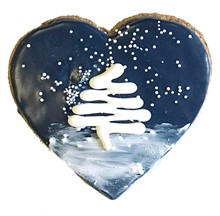 Winter Starry Night Heart - 20 Ct Case BKY:WIN:00459