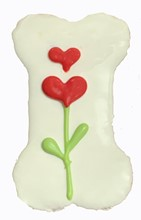 "Heart Flower 4"" Bone (20 Ct Case) 