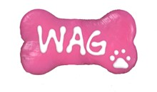 "Hot Pink Wag 4"" bone (20 ct case) 272"