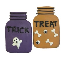PRE-ORD Trick or Treat Mason Jars - 16 Ct Case BKY:HAL:00192