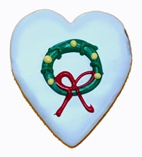 Holiday Wreath Heart- 16 Ct Case BKY:CMAS:00421