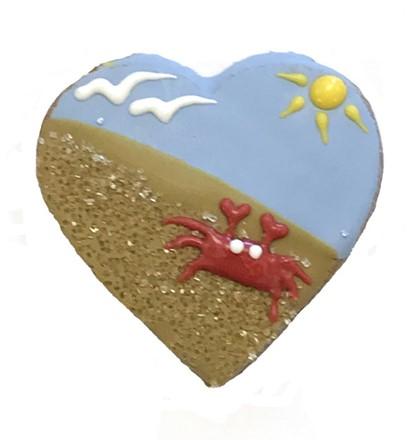 Sandy Beach Heart - 20 Ct Case BKY:SUM:00404