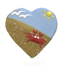 Sandy Beach Heart - 20 Ct Case BKY:SUM:00404