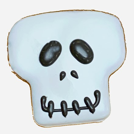 Skull Face Cookie - 20 Ct Case  BKY:HAL:00191